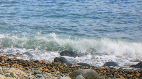 Beach Waves forming Rocks and Pebbles