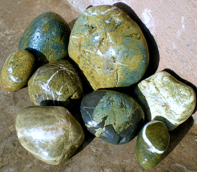 Green Beach Rocks
