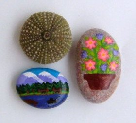 Beach Stone Crafts Ideas Beach Stone Art Pebble Crafts